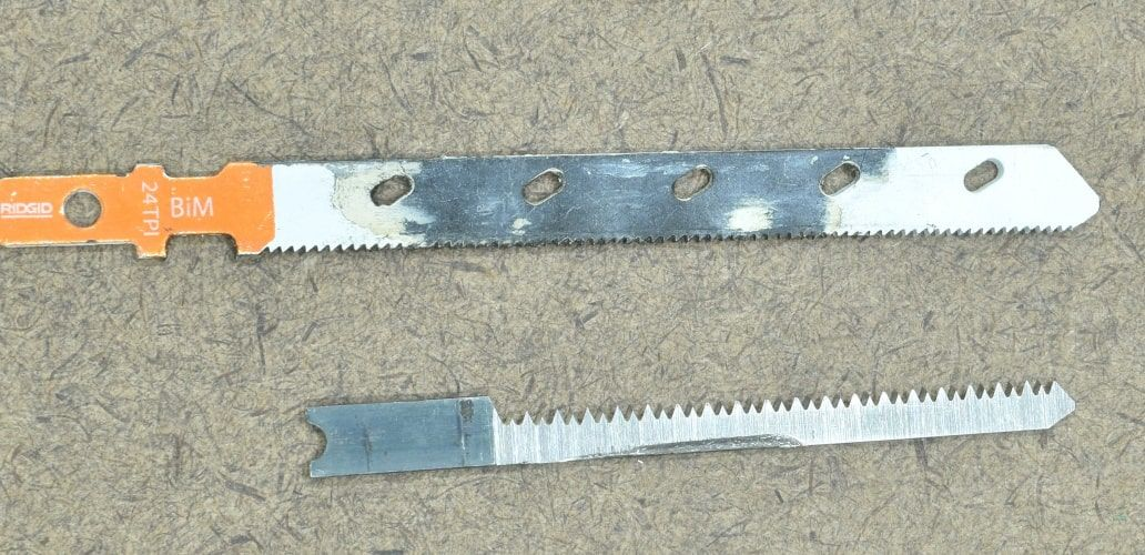 Jig saw blades for wood and metal